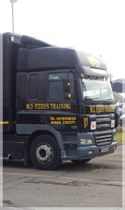 Obtaining your LGV license or PCV License in Inverness and the North of Scotland